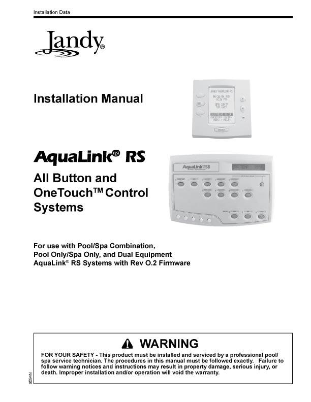 Jandy Aqualink Rs Wiring Diagram - Wiring Diagram List on