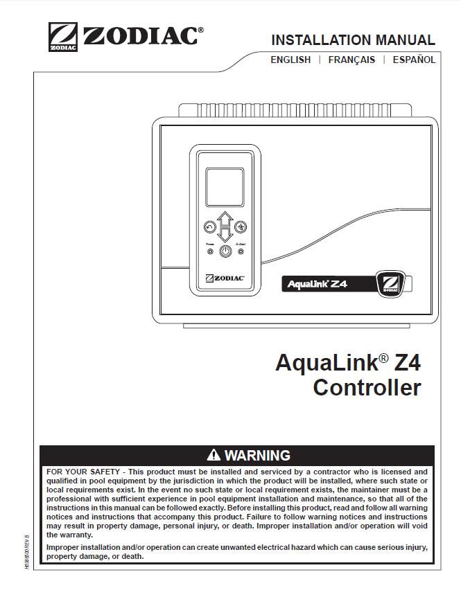 AquaLink® Z4 Controller