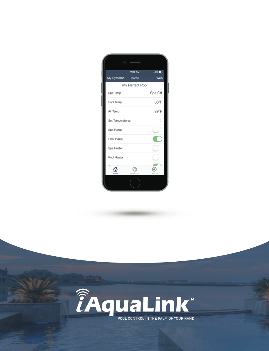 Iaqualink 20 Support Swimming Pool Automation Mobile Apps By Replacing A Light From The Deck Electrical Online Controller Brochure